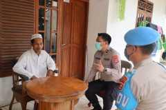 Tim kesehatan Polda Banten kunjungi rumah korban aksi unjuk rasa di Kabupaten Tangerang